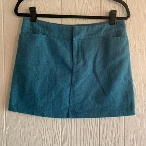 American Eagle Teal Wool Mix Skirt